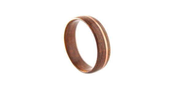 Outback Rosewood Copper Inaly Bentwood Ring - Handcrafted Rosewood Ring - Handmade in Byron Bay - Rosewood Wedding Ring