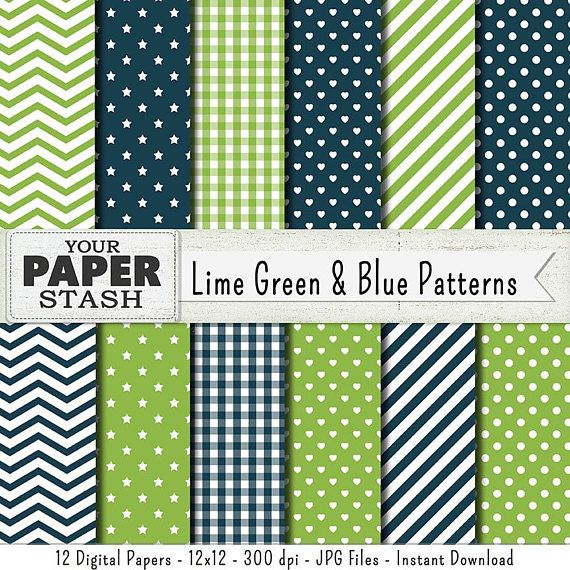 24 Best Blue Green Digital Scrapbook Papers Images On Pinterest