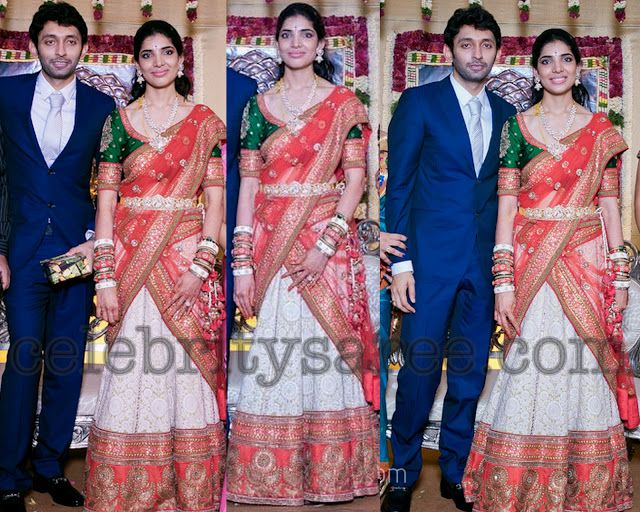 Rishita Wedding Reception Saree | Saree Blouse Patterns