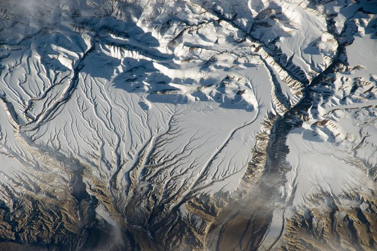 Rivers and Snow in the Himalayas, China and India