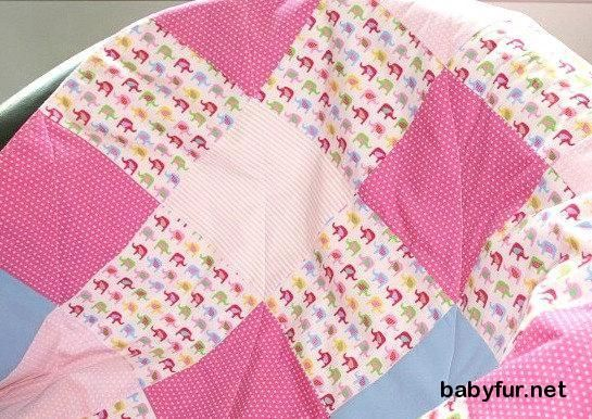 Pink Baby Girl Quilt, Modern Baby Quilt, Girl Cot Bedding, Personalized Nursery Decor, Elephant Nursery Bedding, Patchwork Girl Crib Quilt - http://babyfur.net/pink-baby-girl-quilt-modern-baby-quilt-girl-cot-bedding-personalized-nursery-decor-elephant-nursery-bedding-patchwork-girl-crib-quilt.html