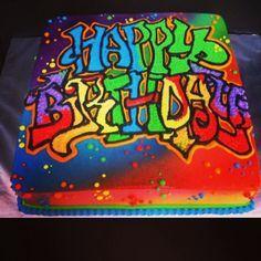 Splatter And Graffiti Cake Designs