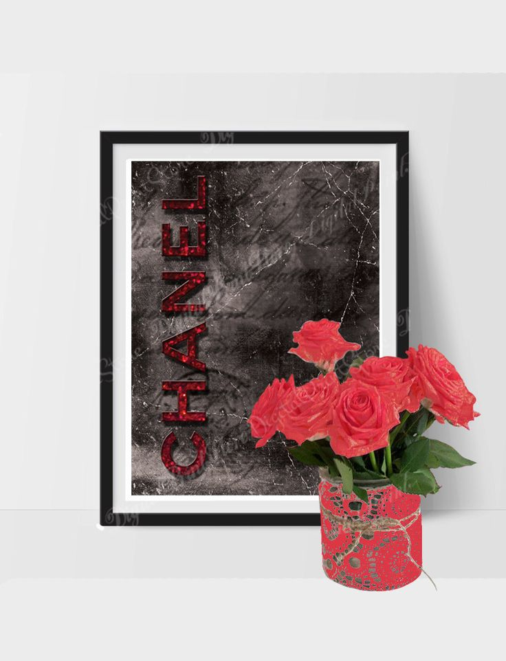 """Printable Coco Chanel Printable of """"Coco Chanel 03"""" Glitter, Modern, Comercial Use by DigitalPrintStore on #Etsy #gift #cocochanel #chanel"""