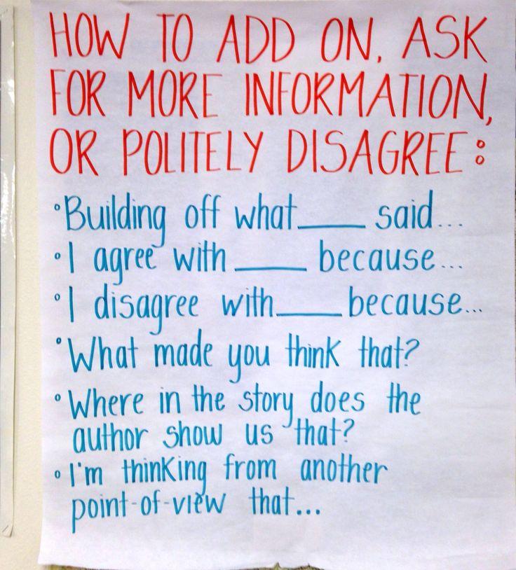 Socratic seminar sentence frames 1st Grade Pinterest
