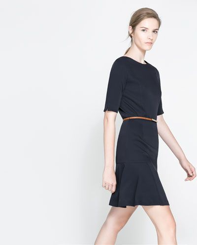 Image 2 of DRESS WITH PLEATED SKIRT from Zara