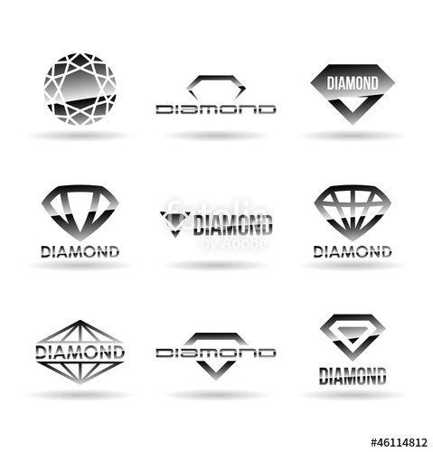 """Téléchargez le fichier vectoriel libre de droits """"Diamonds. Vol 2."""" créé par pne au meilleur prix sur Fotolia.com. Parcourez notre banque d'images en ligne et trouvez l'illustration parfaite pour vos projets marketing !"""
