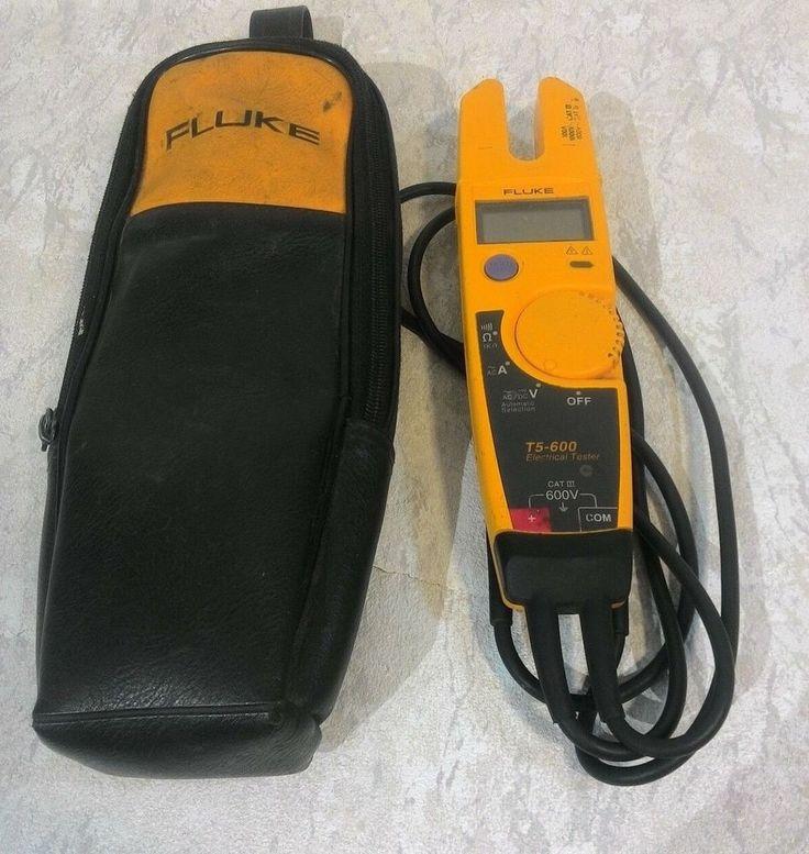 Fluke T5-600 Orange Voltage Continuity 600v Current Electrical Tester! #Fluke