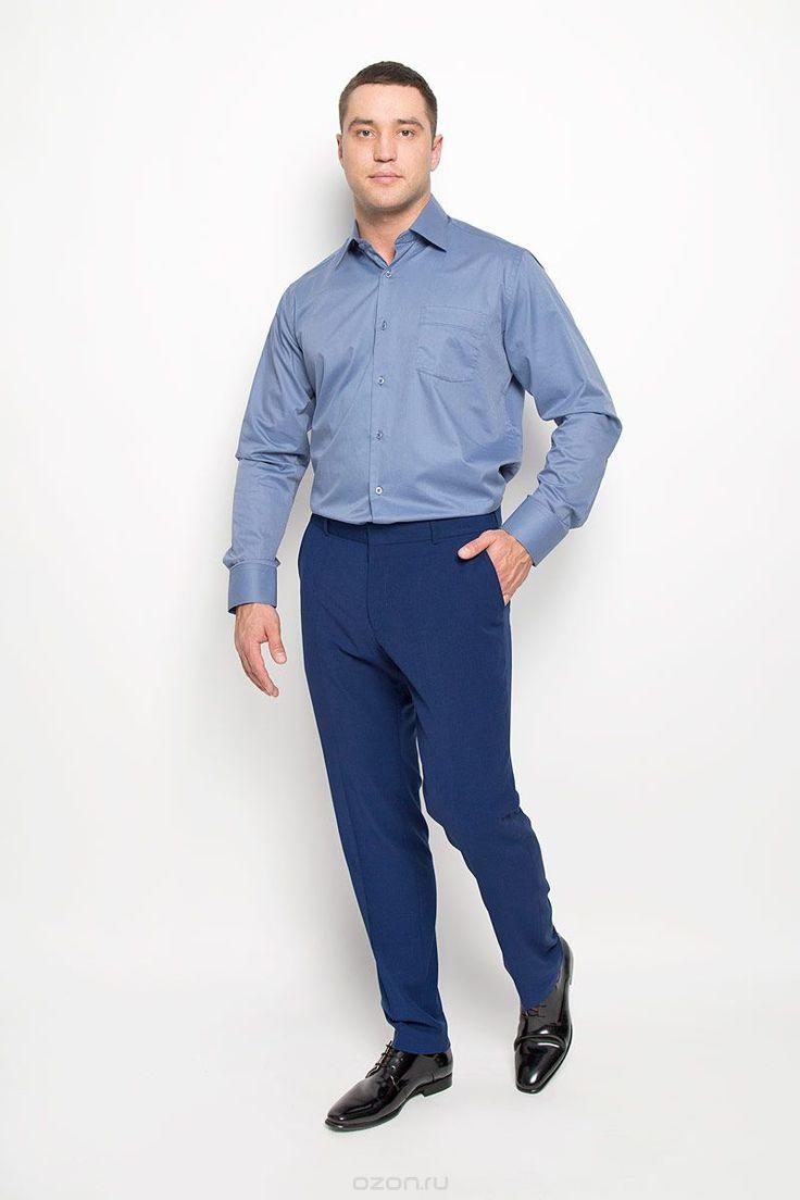 W 82-02Стильная мужская рубашка KarFlorens, выполненная из хлопка с добавлением микрофибры, подчеркнет ваш уникальный стиль и поможет создать оригинальный образ. Такой материал великолепно пропускает воздух, обеспечивая необходимую вентиляцию, а также обладает высокой гигроскопичностью. Рубашка с длинными рукавами и отложным воротником застегивается на пуговицы спереди. Рукава рубашки дополнены манжетами, которые также застегиваются на пуговицы. Однотонная модель дополнена накладным…