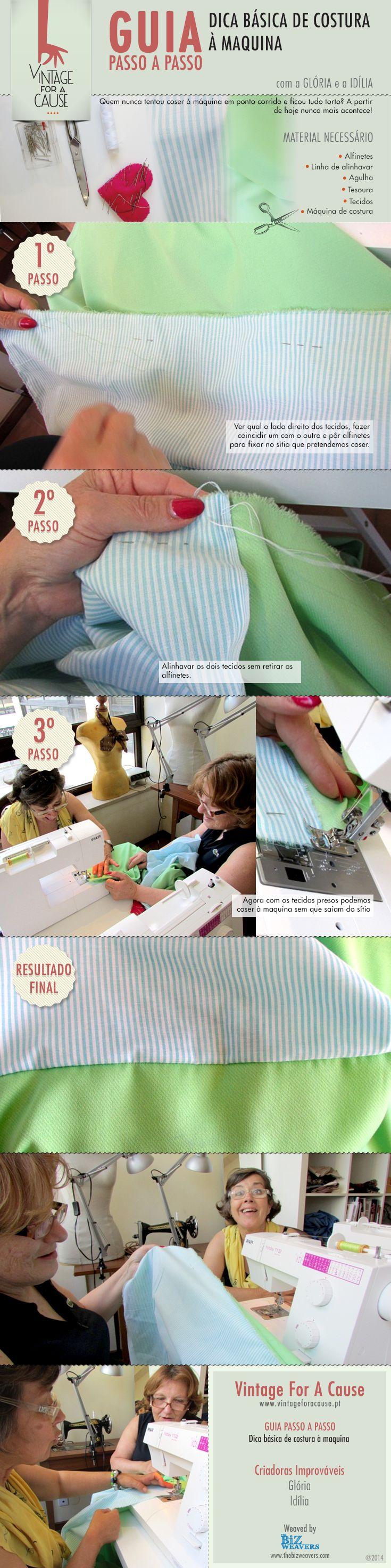 Já tentaram (sem sucesso) coser à máquina em ponto corrido? A Glória e a Idília certificam-se que tudo corre na perfeição. Siga as dicas :)
