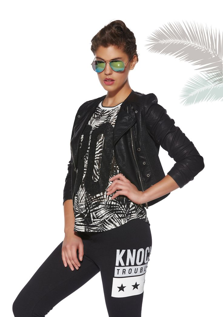 #forwomen #clothing #fashion #glostory #grey #black #white #leatherjacket #cool