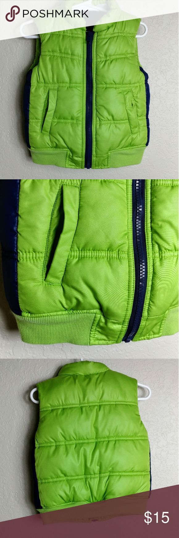 "Kids R Us Boys Winter Vest Lime Green Boys Winter Vest  Size 2  100% Polyester  Pit to Pit 11.5"" Length 14"" Kids R Us Jackets & Coats Vests"
