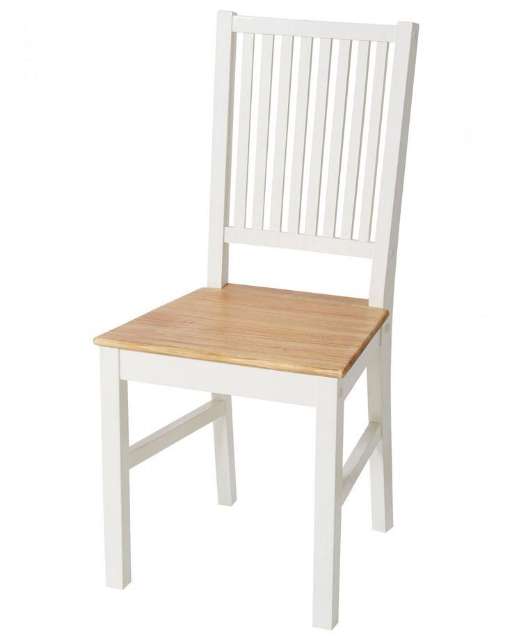 Mit dem Esszimmerstuhl Paula holen Sie sich ein Stück nordische Gemütlichkeit in Ihr Zuhause! Wer gerne seinen Essbereich in einem hellen Stil mit klaren Formen, aber trotzdem romantisch einrichten möchte, der ist mit dieser Serie im skandinavischen Landhausstil sehr gut beraten. Die Kombination aus handgewachstem Spießtannenholz und weiß lackiertem Holz gibt diesem Stuhl seine Identität und wirkt herrlich erfrischend!