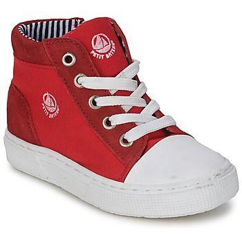 Deze hoge sneaker van Petit Bateau combineert comfort met een trendy stijl. Een sportieve modieuze sneaker van leer en textiel in de kleur rood. Het model Simb is voorzien van een textielen binnenvoering en een leren binnenzool. De zool is gemaakt van rubber. Een coole urban sneaker speciaal ontworpen voor kinderen! - Kleur : Rood - Schoenen Kind € 55,19
