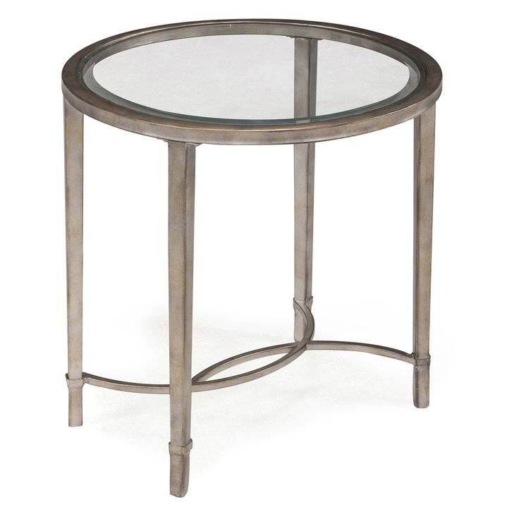 Magnussen Copia Metal Oval End Table   $309.99 @hayneedle
