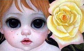 Margaret and walter Keane red babe eyes