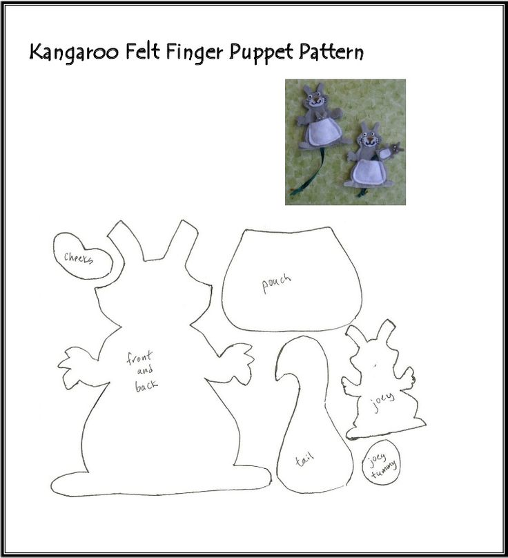 1000 images about felt fingered fun on pinterest felt for Kangaroo puppet template