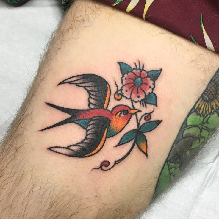 Traditional Swallow by Steve Vonriepen at Queen Street Tattoo