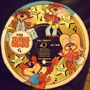 Cereal Box Records! I remember cutting them out from the boxes