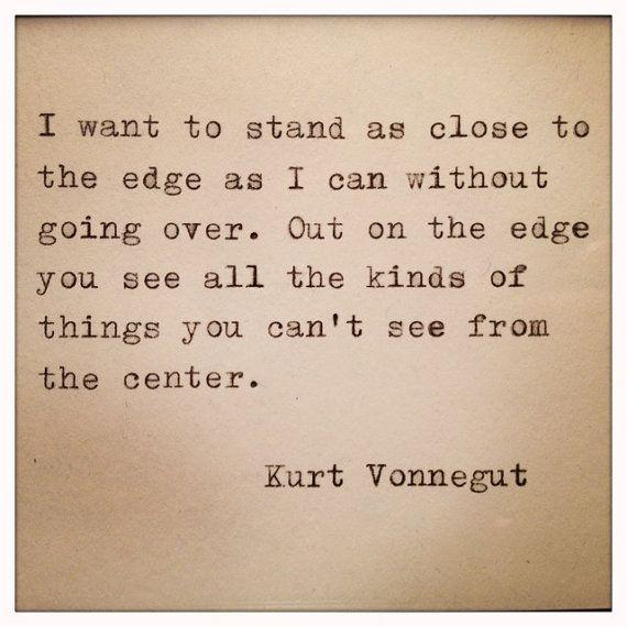 Kurt Vonnegut Quote Made On Typewriter by WhiteCellarDoor on Etsy, $9.00