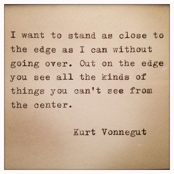 Kurt Vonnegut Quote Made On Typewriter by WhiteCellarDoor on Etsy, $9.00