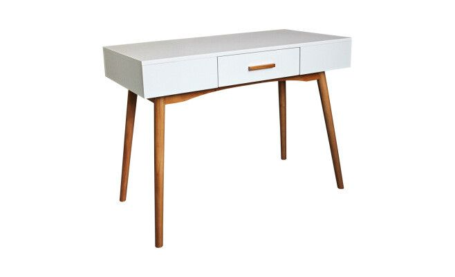 "Bureau 1 tiroir ""Sixties""  blanc  100 x 48 x 74 cm"