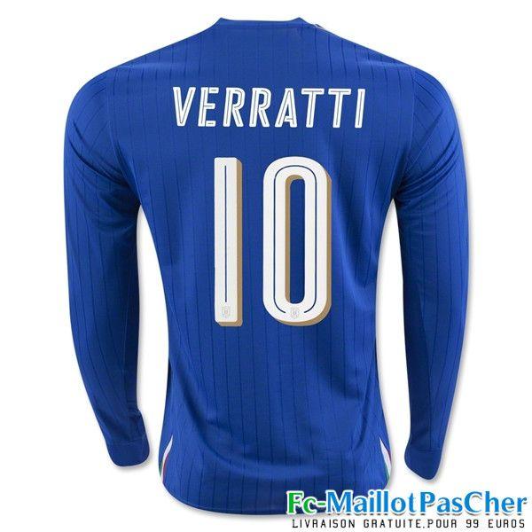 Le Nouveau Maillot du Euro 2016 Italie noir Manche Longue VERRATTI 10 Domicile