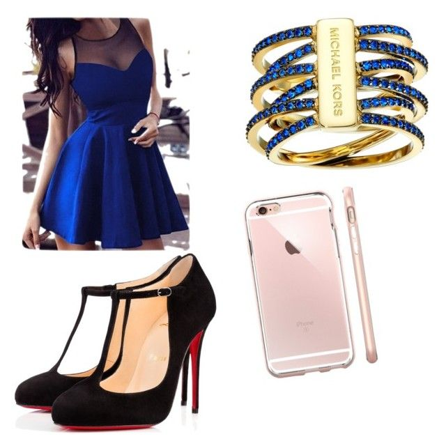 Saturday nights by akayoc on Polyvore featuring polyvore, fashion, style, Christian Louboutin, Michael Kors and clothing