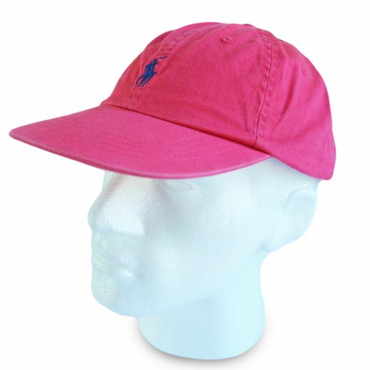 polo ralph baseball cap hat bright pink colour