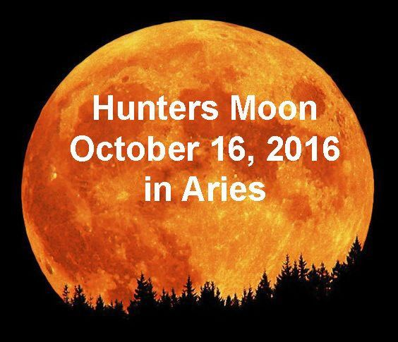 If you're prone to tilt your head and howl at the moon, like the great hunters the coyotes, October 16, in Aries. Hunters Moon October 16, 2016, Aries, Native American, veil thinnest, ritual, Supermoon, blood moon
