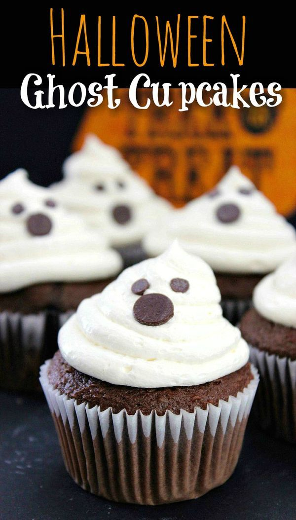 halloween ghost cupcakes - Cute Halloween Cupcake Decorating Ideas