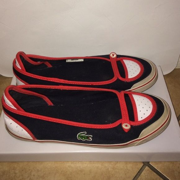 Lacoste shoes women size 7 1/2 USA eur 39 Lacoste shoes women size 7 1/2 USA eur 39 are pre-owned Lacoste Shoes