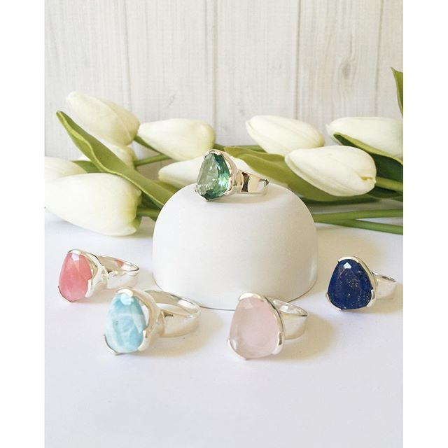 So the family of Everyday Cocktail rings has grown! Because the first release of the Larimar and Green Amethyst sold out so quickly, we have decided to offer up pre-orders for the Rose Quartz, Pink Opal or Lapis rings for est mid Oct delivery. www.uberkate.com.au