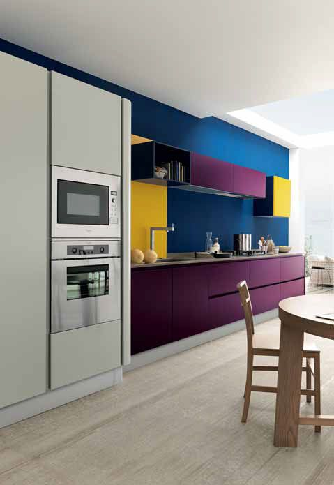 A splash of blue, yellow and purple for our #Love #Colour in the #Kitchen month. #Eurocasa