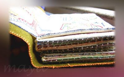Excellent and through tutorial on making a fabric book..