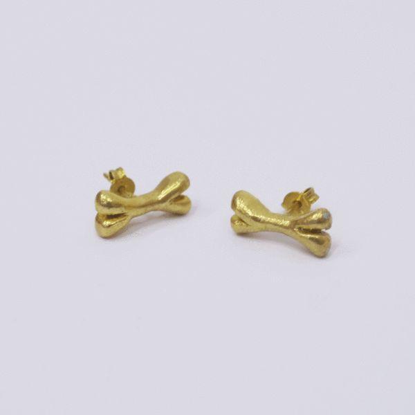 Earrings Need My Bone in Gold/Silver/Pink Gold/Black Silver – Akira Mushi