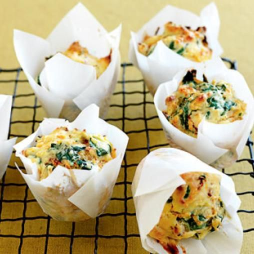 Spinach, sweet potato and sun-dried tomato muffins | Australian Healthy Food Guide