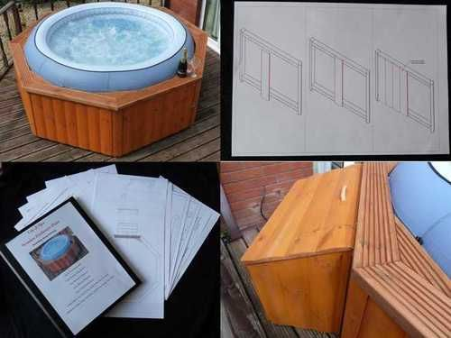 Hot Tub Lay Z Spa Quality Wooden Enclosure PLANS now with matching step plans