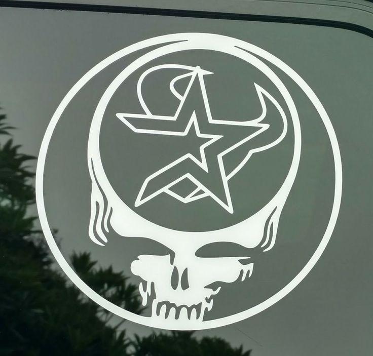 Grateful dead texas decal houston astros texans die cut vinyl sticker baseball stealie steal your face team music vintage retro logo decal