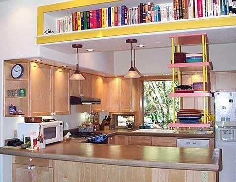 Bookshelf In Soffit Kitchen And Bath Storage Pinterest