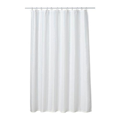 SALTGRUND Rideau de douche, blanc blanc 180x200 cm