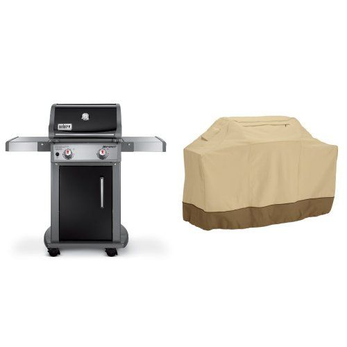 Weber 46110001 Spirit E210 Liquid Propane Gas Grill Black With Classic Accessories Cover See This Gre Propane Gas Grill Outdoor Cooking Classic Accessories