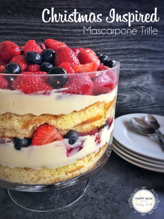 Christmas Inspired Mascarpone Trifle | Happy Mum Happy Child