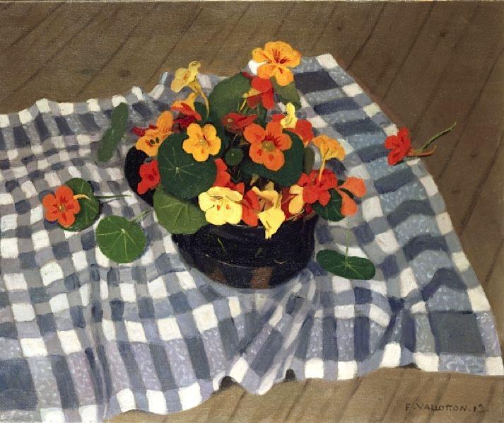 Bowl of Nasturtiums (oil on canvas), Vallotton, Felix Edouard (1865-1925)