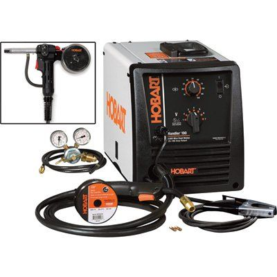 FREE SHIPPING — Hobart Handler 190 Flux-Core/MIG Welder with Included SpoolRunner 100, 10ft. Spool Gun — 230V, 190 Amp, Model# 500554001 | MIG Flux Core Welders| Northern Tool + Equipment