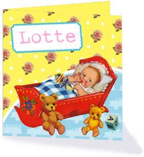 Geboortekaartje uit de collectie 'Schattig'