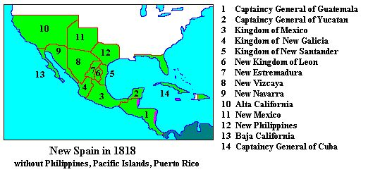 New Spain | the viceroyalty of new spain was established in 1535 and included the ...