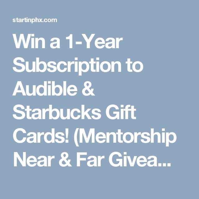 Win a 1-Year Subscription to Audible & Starbucks Gift Cards ...