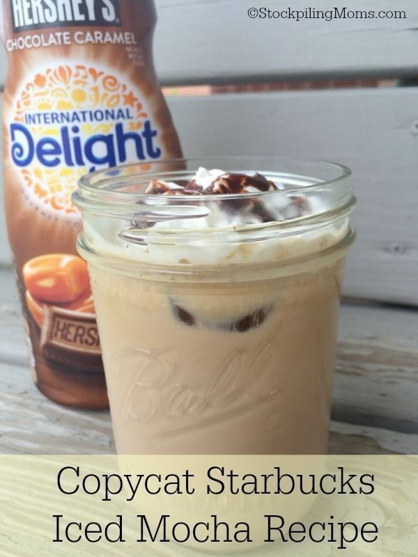 Copycat Starbucks Iced Mocha Recipe - Better than the coffee house and will save you a TON of money!