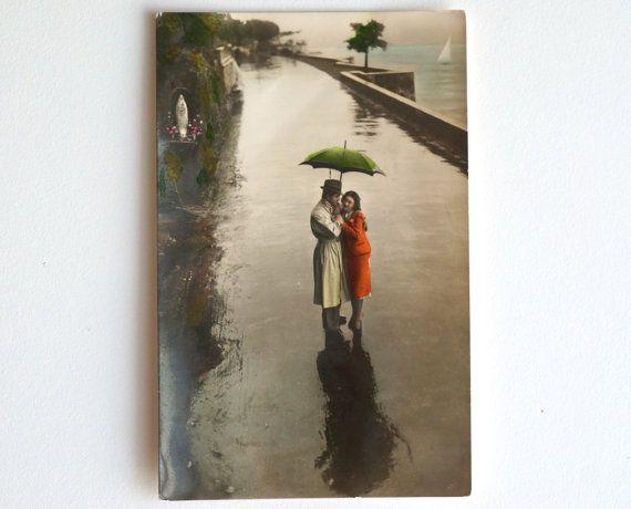 Innamorati vecchia cartolina 1942 con coppia che di TempoPassato