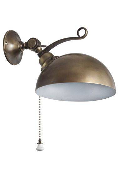Rounded Br Adjule Wall Sconce Dering Hall With A Pull Chain Lighting In 2018 Pinterest Sconces And